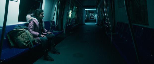 """Watching a Netflix movie """"No one will get out of here alive"""".  (Photo: Netflix)"""