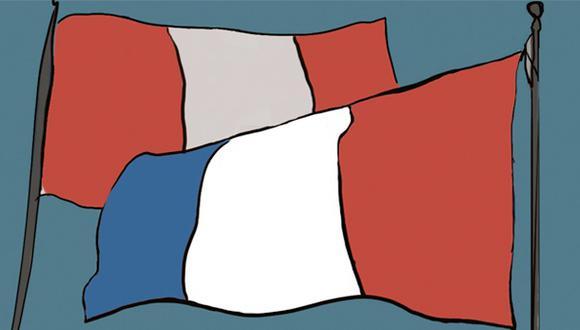 """""""El presidente del Comité Francia-América ha hecho llegar una hermosa carta donde resalta los antiguos y estrechos lazos que vinculan fraternalmente al Perú y Francia"""". (Ilustración: Giovanni Tazza)."""