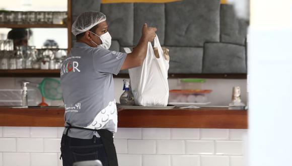 """El presidente Francisco Sagasti anunció que los restaurantes para las regiones en nivel de alerta """"Extremo"""" solo podrán funcionar haciendo entregas por delivery. (Foto: Jesus Saucedo / GEC)"""