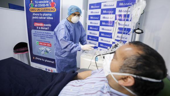 EsSalud continúa recibiendo donantes de plasma para tratamiento de pacientes COVID-19 (Foto: EsSalud)
