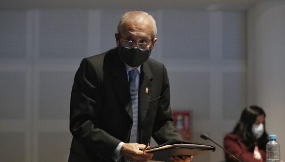 En la sesión de la Junta de Fiscales Supremos, que se desarrolló de manera virtual, participó Pedro Chávarry, sobre quien pesa un pedido de suspensión en sus funciones que deberá definir en breve la Junta Nacional de Justicia (JNJ). (Foto: GEC)