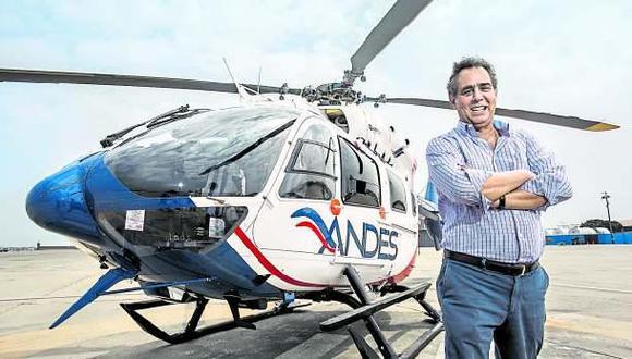 La minería empieza a movilizarse en heicóptero. Carlos Augusto Dammert, presidente de Servicios Aéreos de los Andes.