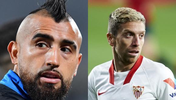Prensa italiana señala un posible trueque entre Arturo Vidal y Alejandro 'Papu' Gómez.
