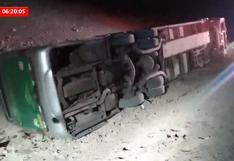 Moquegua: vuelco de bus interprovincial en la Panamericana Sur deja 35 heridos