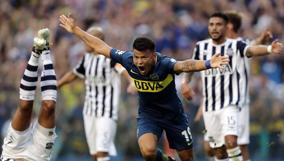 Boca Juniors se acerca cada vez más al título de la Superliga, luego de vencer en tiempo añadido a Talleres de Córdoba con gol de Pablo Pérez. (Foto: AFP)