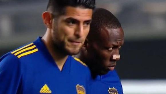 Luis Advíncula y Carlos Zambrano son titulares en Boca Juniors ante River Plate. (Captura: TyC Sports)