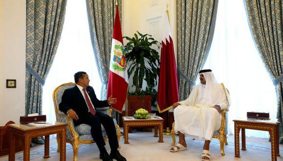 Humala se reunió con emir de Qatar para fortalecer relaciones
