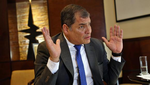 El expresidente de Ecuador, Rafael Correa, quien ahora vive en Bélgica. (Foto: EFE).