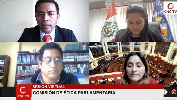 El congresista César Gonzales (Somos Perú), entonces titular de la Comisión de Ética Parlamentaria, preside una sesión del grupo de trabajo el pasado mes de julio. (Foto: Congreso TV).