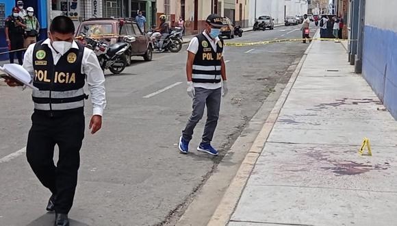 Un cambista de dólares fue asaltado y asesinado por delincuentes a pocas cuadras de la Plaza de Armas de Trujillo | Foto: GEC