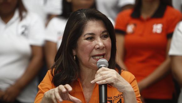 """Martha Chávez consideró que decisión de liberar a Keiko Fujimori """"es un acto de justicia"""". (Foto: GEC)"""