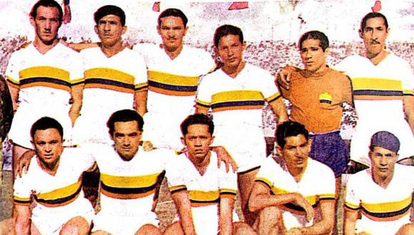 La selección colombiana que disputó la Copa América en 1945. (Foto: Historia de la selección de la Colombia).