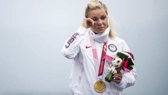 Oksana Masters obtuvo la medalla de oro en ciclismo en los Juegos Paralímpicos de Tokio 2020. (Foto: AFP)