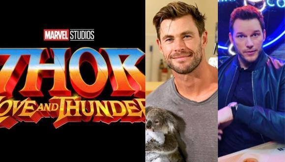"""""""Thor: Love and Thunder"""": Difunden las primeras imágenes de Chris Hemsworth y Chris Pratt en el rodaje. (Foto: @chrishemsworth/@prattprattpratt)"""