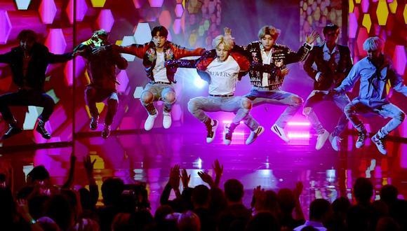 BTS en los American Music Awards. (Foto: Agencias)