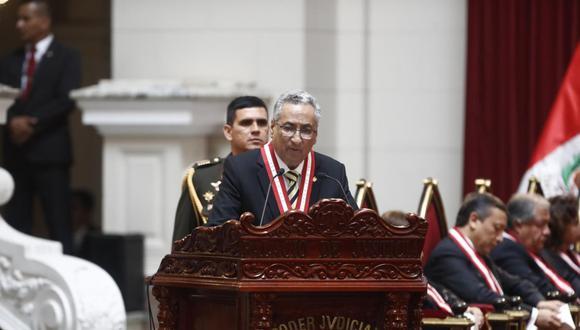 El presidente del Poder Judicial dijo que no recordaba las comunicaciones que tuvo con Hinostroza. (Foto: El Comercio)