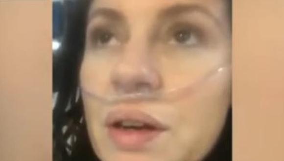 La mujer contó que estuvo con síntomas por cinco días antes de ingresar al hospital. (Foto: Captura de video).