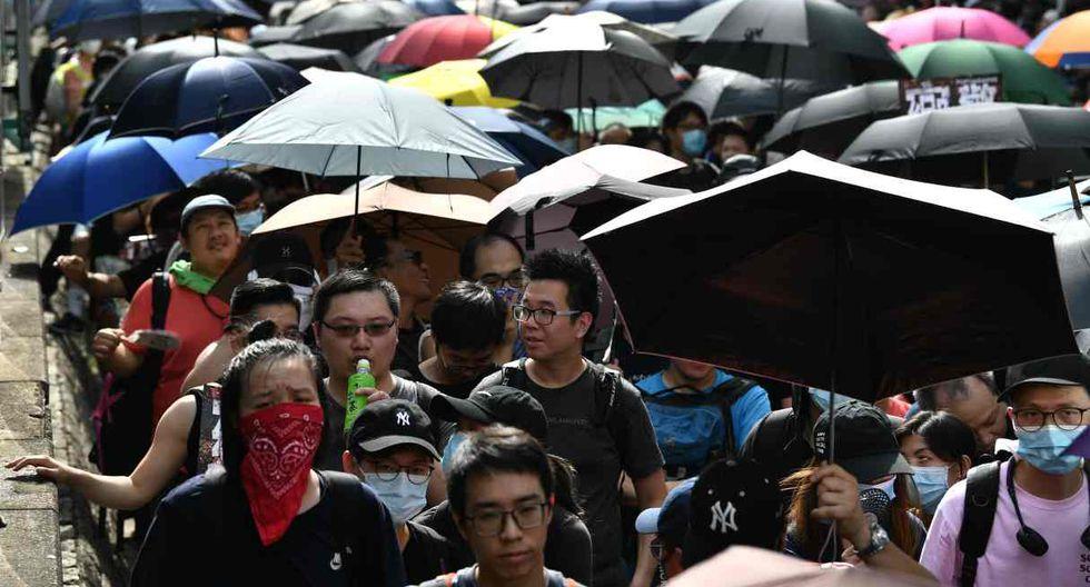 Las manifestaciones surgieron a raíz de un polémico proyecto de ley que preveía facilitar las extradiciones a China, pero derivaron en un movimiento más amplio que reclama reformas democráticas. (Foto: AFP)