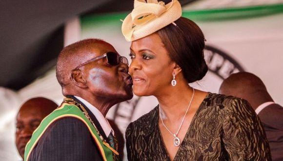 Grace y Robert Mugabe contrajeron matrimonio en 1996.