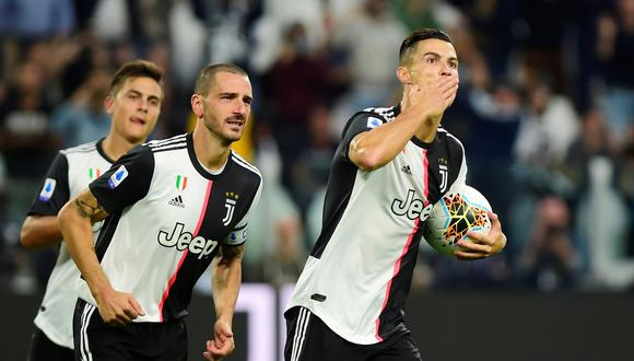 Cristiano Ronaldo y un nuevo gol con Juventus: el portugués marcó el 2-1 ante Hellas Verona. (Foto: Reuters)