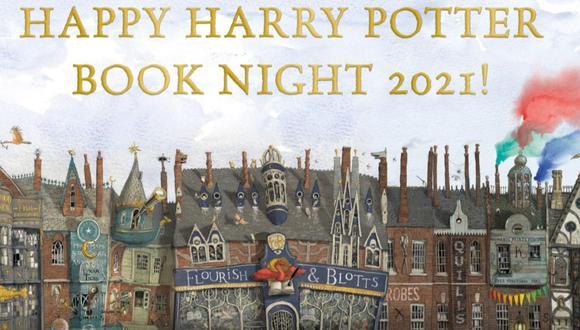 Banner oficial de la noche que congrega a los fanáticos de Harry Potter. Este año el motivo es el Callejón Diagon. (Foto: Difusión / Penguin)