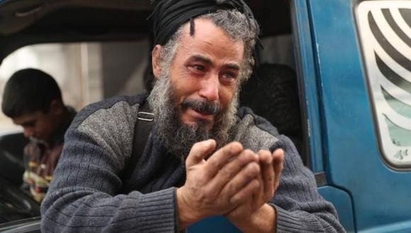 Cientos de miles de personas debieron huir de la ciudad siria Maarat al-Numan, en la provincia de Idlib. (Getty Images).