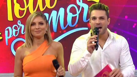 """El exchico reality Nicola Porcella volvió a la conducción de """"Todo por amor"""" junto a Karina Rivera. (Foto: Latina)"""