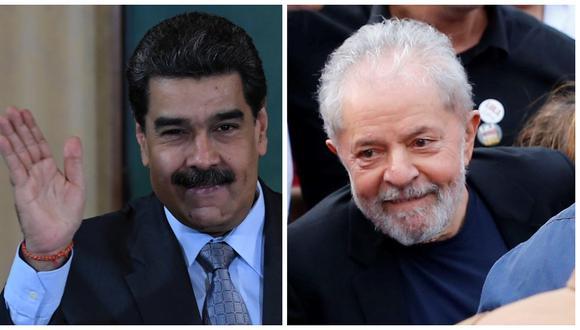 Nicolás Maduro celebró la liberación de Lula da Silva. (Foto: EFE /AFP)