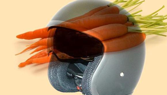 Zanahorias podrían servir para producir cascos de motocicletas