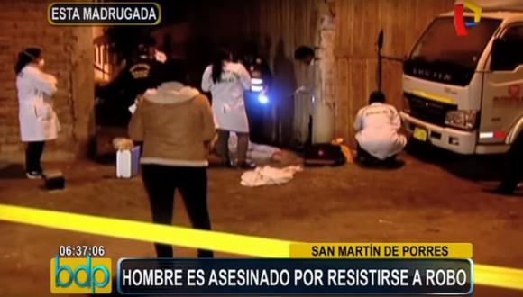 Los vecinos contaron que en la Urb. Virgen del Rosario ocurren constantes asaltos a mano armada.  (Buenos Días Perú)