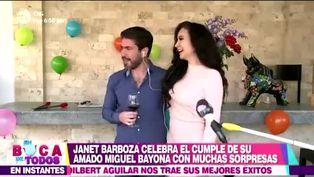 Janet Barboza sorprendió a su novio con mariachis por su cumpleaños