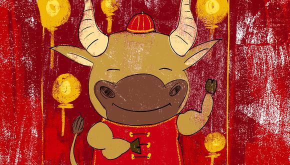 """""""El budismo ha simbolizado nuestra relación con el buey como una metáfora del camino hacia la iluminación"""". (Ilustración: Giovanni Tazza)."""