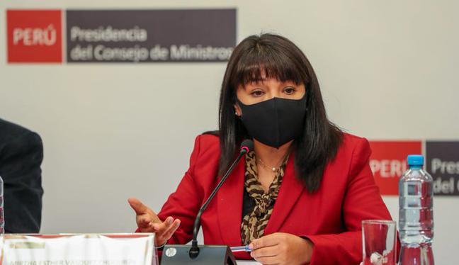 Mirtha Vásquez reafirmó que el Gobierno está abierto al diálogo con el Congreso. (Foto: PCM)
