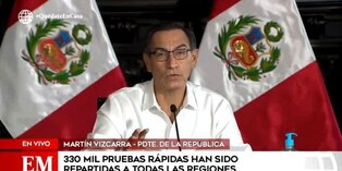 Coronavirus en Perú: 330 mil pruebas rápidas fueron distribuidas en regiones