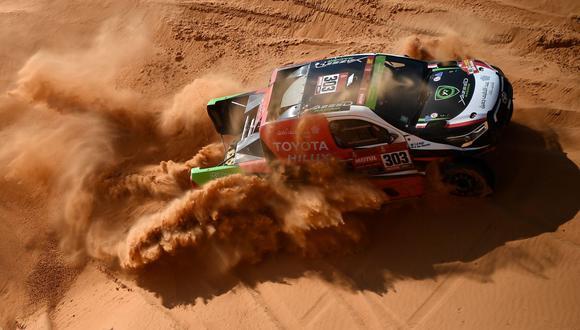 Yazeed Al Rajhi sumó una nueva victoria en el Rally Dakar 2021. (Foto: AFP)
