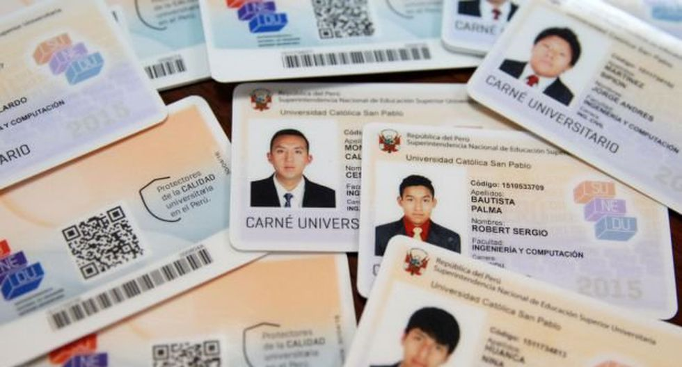Sunedu: nuevos carnets universitarios costarán 16 soles