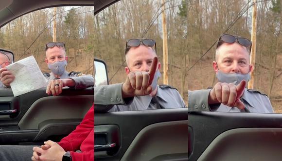 Un video viral muestra cómo un policía amenaza a un conductor con ponerle una infracción de tránsito por un inexplicable motivo. | Crédito: @workingman330 / TikTok