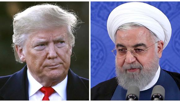 Fue la última acción de Irán para buscar beneficios tangibles del acuerdo, del que Estados Unidos se retiró cuando el presidente Donald Trump impuso sanciones radicales destinadas a reducir el papel regional de Teherán. En la imagen, Trump y el presidente iraní Hasan Rohani. (Foto: AP/ AFP)