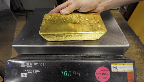 El oro al contado subía un 1%. (Foto: AFP)