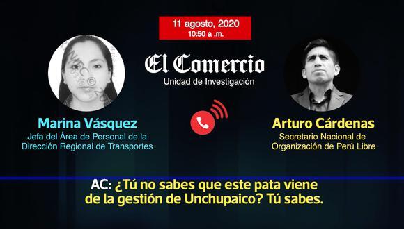 Arturo Cárdenas le reclama a Marina Vásquez por la permanencia del encargado del área de Fiscalización, quien labora desde la gestión anterior del gobernador Ángel Unchupaico. (Foto: Captura)