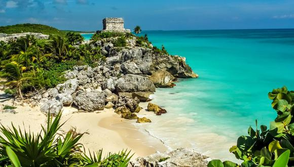 Tulum, México. Arena blanca, mar turquesa y ruinas arqueológicas es lo que encontrarás en este destino, situado en el sureste de México, en el mar Caribe. (Foto: Shutterstock)