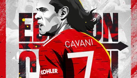 Edinson Cavani acordó su llegada a Manchester United por una temporada, con opción a una adicional. (Foto: Manchester United)