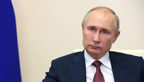 Presidente ruso, Vladimir Putin, dando un anuncio al país. (Foto: AFP)
