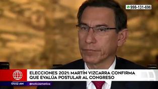 Martín Vizcarra confirmó estar evaluando su postulación al Congreso