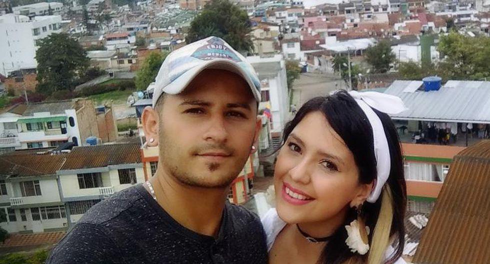 Richard Muñoz Cardona y su esposa Charlotte Cobos.