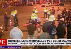 Comas: un hombre murió atropellado tras cruzar vía con semáforo apagado