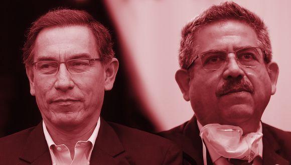 El presidente Martín Vizcarra  y Manuel Merino, presidente del Congreso. (Foto: El Comercio)