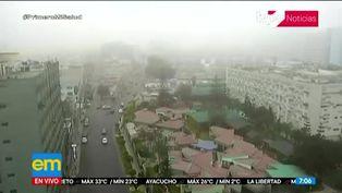 Distritos de Lima amanecieron con intenso frío y neblina