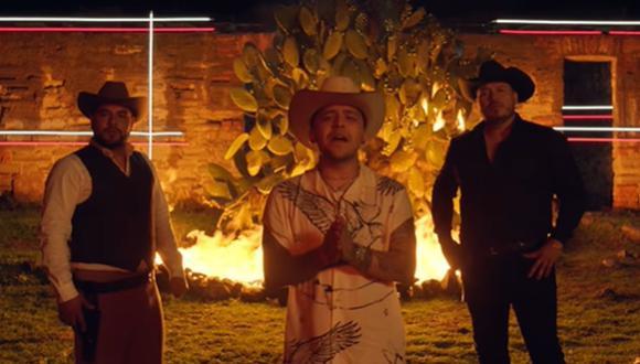 """Christian Nodal se unió a Banda MS para lanzar el tema """"La sinverguenza"""". (Foto: Captura de video)"""