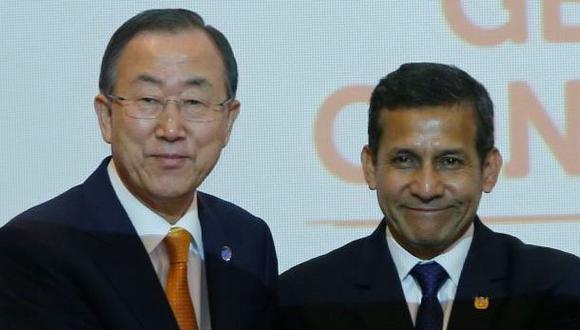 Presidente Humala se reunirá con Ban Ki-Moon en Palacio